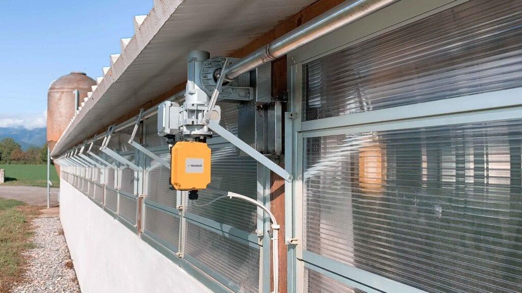 Franco windows NW Series animal farms ventilation